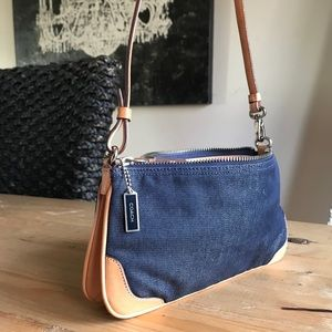 Jean & Leather Coach Bag